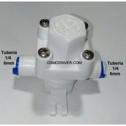 Reductor y regulador de Presión osmosis de 0,5bar a 8 bar DE CONEXION RAPIDA 1/4 O 6mm