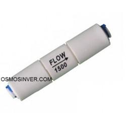 Restrictor 1500 ml osmosis inversa 1/4 conexión rapida