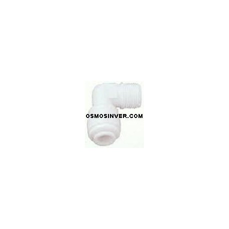 Codo conexion rapida rosca 1/8 tubo 1/4 o 6mm para porta-membranas