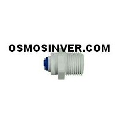 Recta rosca 1/4, tubo 1/4 conexion rapida para osmosis inversa domestica