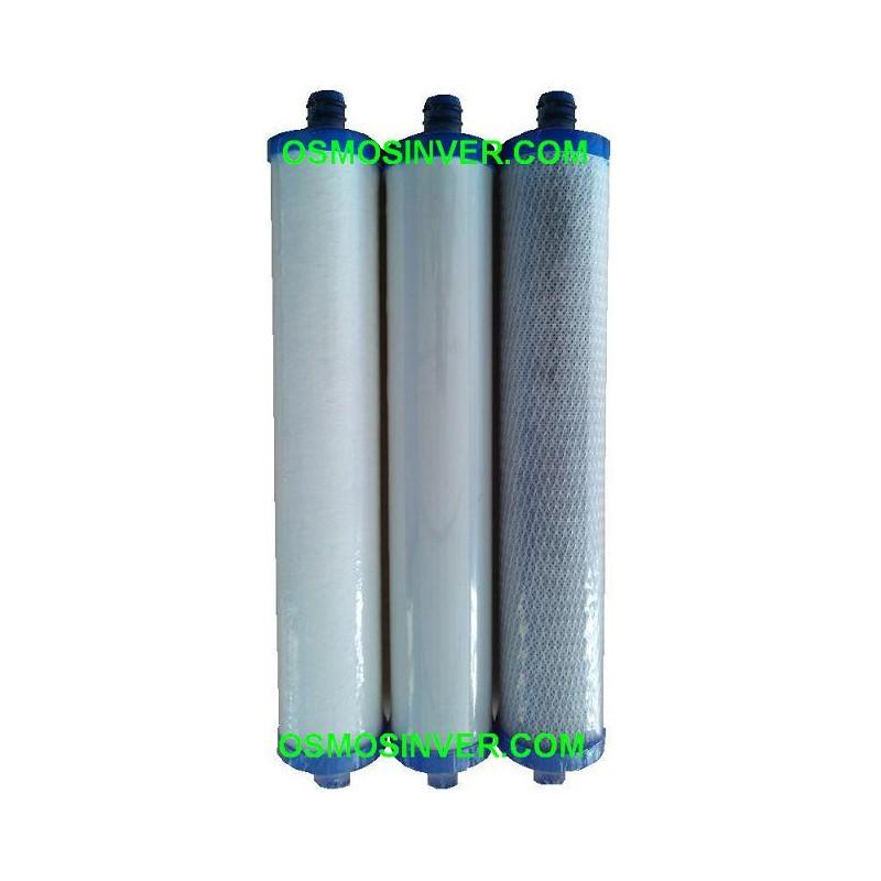 Filtros 10 univesales estandar osmosis inversa domestica - Depuradora agua domestica ...