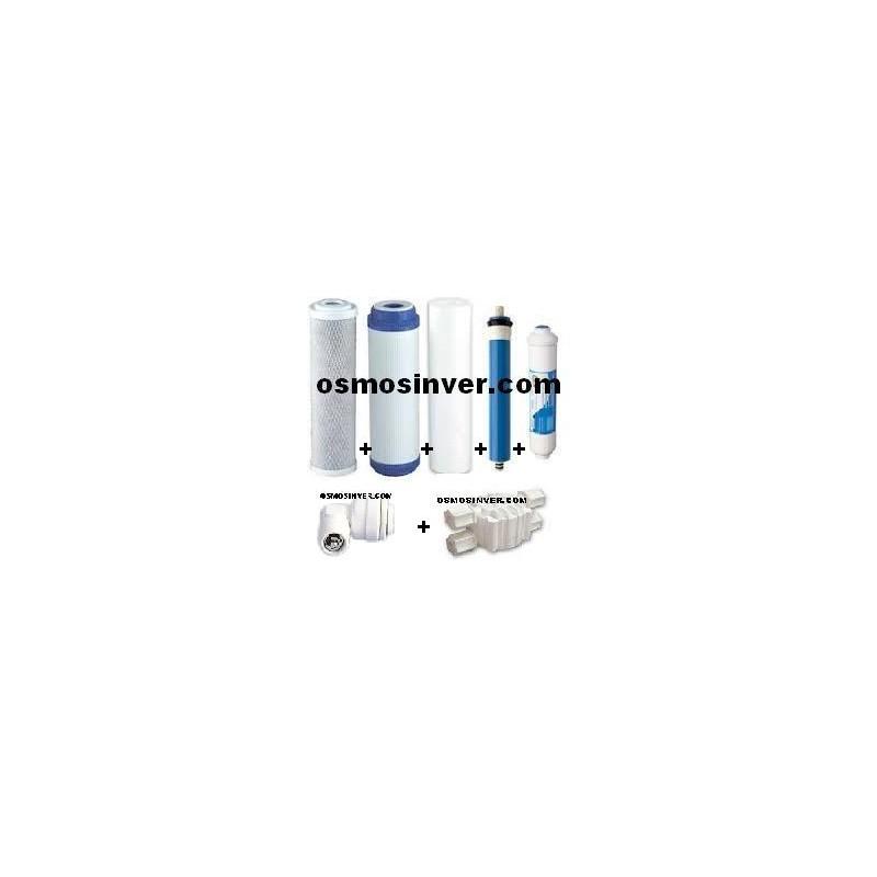Juego de 3 filtros pos filtro membrana v corte v - Filtros osmosis inversa domestica ...