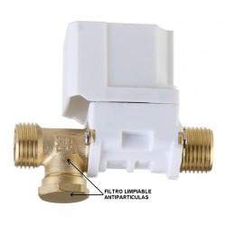 Electroválvula 12v DC - rosca macho 1/2 - presión mínima 1kg