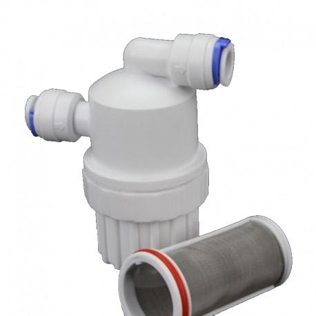 Filtro desmontable con maya metalica filtrante de 100 micras desmontable y limpiable