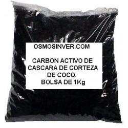 Carbon activo GAG granulado DE CASCARA DE CORTEZA DE COCO, Bolsa de 1 kg (1000GRAMOS)