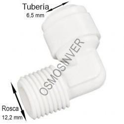 Codo conexión rápida rosca 1/4 tubo 1/4 o 6mm