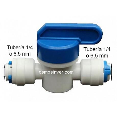 Llave de paso tubo 1/4 o 6mm