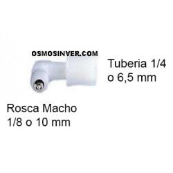 Válvula Anti-retorno ROSCA MACHO 1/8 o 10mm, TUBERIA 1/4 o 6.5mm de conexion de rosca