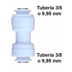 Unión conexión rápida tubo 3/8 (9.95mm) a tubo 3/8 (9.95mm) osmosis inversa