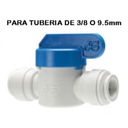 LLAVE PASO JOHN GUEST con CONEXION RAPIDA tubo 3/8 o 9.5mm a tubo3/8 o 9.5mm