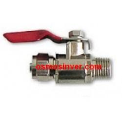 Llave paso metálica rosca 1/4 o 6,5mm tubo 3/8 o 9.95mm