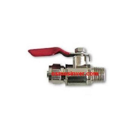 Llave paso metálica rosca 1/4 tubo13/8 o 9.95mm