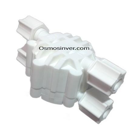 Valvula de corte , Válvula cuatro vías, Válvula SHUT-OFF CON CONEXIÓN ROSCA 1/4 (12,2 mm)