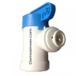 Llave depósito osmosis para tubo de 6mm o 1/4 John Guest
