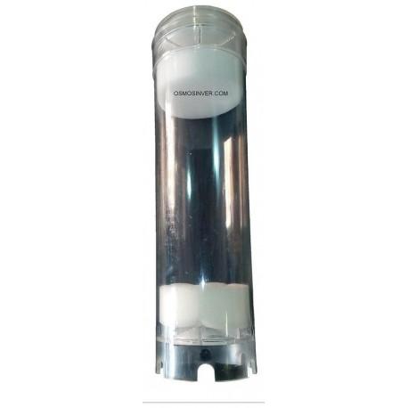 """Filtro o Cartucho rellenable de 10"""" transparente para Resinas, carbon y otros medios de filtracion"""