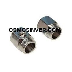 Llave paso metálica rosca 1/4 tubo1/4 o 6mm