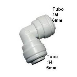 Codo conexion rapida Tubo 1/4 6mm - Tubo 1/4 o 6mm